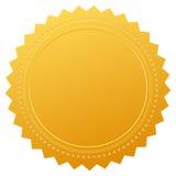 Sceau blanc de certificat de garantie Images libres de droits