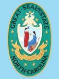 Sceau d'état de la Caroline du Nord Photographie stock libre de droits