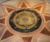 Sceau d'étoile du capitol d'état de manganèse rotunda photographie stock