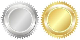 Sceau d'argent et d'or Image libre de droits