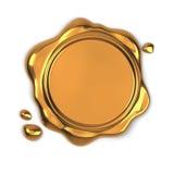 Sceau d'or de cire illustration de vecteur