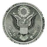 Sceau d'E Pluribus Unum sur billet d'un dollar des USA un Images libres de droits