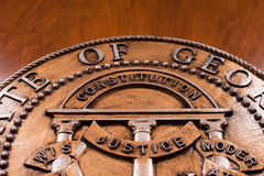 Sceau d'état de la Géorgie Image stock