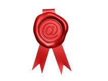 Sceau de cire d'email illustration libre de droits