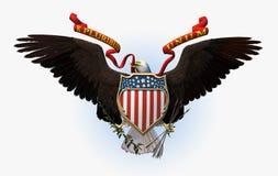 Sceau grand des Etats-Unis - comprend le chemin de découpage Photographie stock libre de droits
