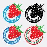 Sceau/repère de saveur de fraise Images libres de droits
