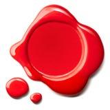 Sceau rouge de cire Photographie stock libre de droits