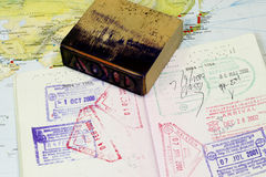 Sceau sur le passeport Photos stock