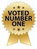 Sceau voté du numéro un Images stock