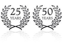 Sceaux 3 d'anniversaire Image stock