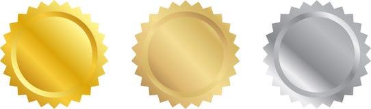 Sceaux blanc de certificat Photo libre de droits
