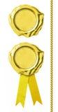 Sceaux d'or réglés Image libre de droits