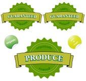 Sceaux garantis par 100% organiques Images libres de droits