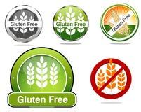 Sceaux libres de gluten pour la demande de règlement coeliaque de psilosis illustration libre de droits