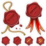 Sceaux rouges de cire illustration de vecteur
