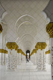 Sceicco Zayed Al Nahyan Mosque - Abu Dhabi Fotografia Stock Libera da Diritti
