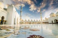 Sceicco Zayed Grand Mosque Fotografie Stock