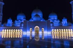 Sceicco Zayed Grand Mosque, Abu Dhabi fotografia stock libera da diritti
