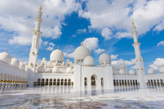 Sceicco Zayed Grand Mosque, Abu Dhabi, UAE Fotografia Stock