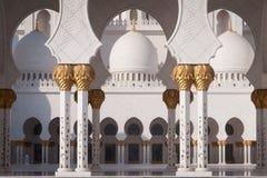 Sceicco Zayed Grand Mosque nell'Abu Dhabi Fotografie Stock Libere da Diritti