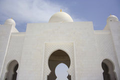 Sceicco Zayed Grand Mosque nell'Abu Dhabi, UAE Fotografia Stock Libera da Diritti