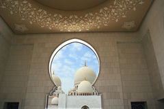 Sceicco Zayed Grand Mosque nell'Abu Dhabi, UAE Fotografia Stock