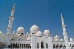 Sceicco Zayed Grand Mosque nell'Abu Dhabi, UAE Fotografie Stock Libere da Diritti