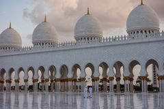 Sceicco Zayed Grande Mosque Fotografie Stock Libere da Diritti