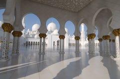 Sceicco Zayed Mosque, Abu Dhabi Fotografia Stock