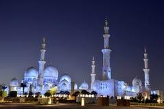 Sceicco Zayed Mosque, Abu Dhabi Fotografie Stock Libere da Diritti