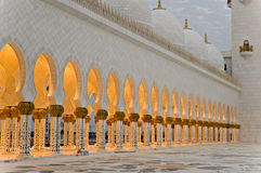 Sceicco Zayed Mosque Arches Immagini Stock Libere da Diritti