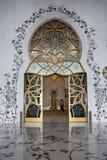 Sceicco Zayed Mosque del portello principale Fotografia Stock Libera da Diritti