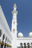 Sceicco Zayed Mosque dell'Abu Dhabi Fotografie Stock Libere da Diritti