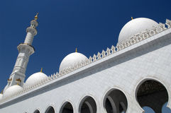 Sceicco Zayed Mosque dell'Abu Dhabi Fotografie Stock