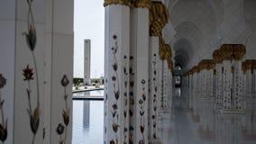 Sceicco Zayed Mosque nell'Abu Dhabi Fotografia Stock Libera da Diritti