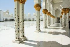 Sceicco Zayed Mosque nell'Abu Dhabi, Emirati Arabi Uniti Fotografia Stock