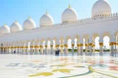 Sceicco Zayed Mosque nell'Abu Dhabi, UAE Immagini Stock