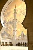 Sceicco Zayed Mosque nella città dell'Abu Dhabi Immagini Stock Libere da Diritti