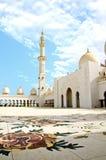 Sceicco Zayed Mosque nella città dell'Abu Dhabi Immagine Stock