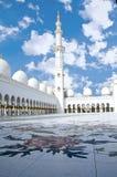 Sceicco Zayed Mosque nella città dell'Abu Dhabi Fotografia Stock Libera da Diritti