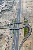 Sceicco Zayed Road Interchange Fotografie Stock Libere da Diritti