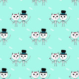 Sceleton猫动画片样式万圣夜 库存照片