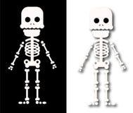 Sceleton asustadizo para el carácter de Halloween de los niños ilustración del vector