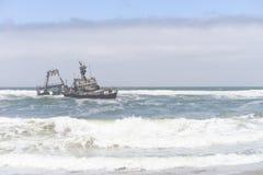 Sceleton coast. In Namibia, Africa royalty free stock photos