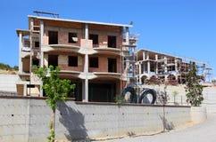 Sceleton de maison neuve de maison de banlieue Images libres de droits