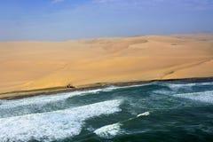 Sceletonkusten i Namibia Arkivfoto