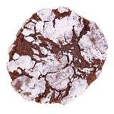 Scelga di recente il biscotto al forno e casalingo della piega del cioccolato isolato fotografie stock