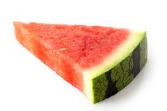 Scelga il triangolo di menzogne dell'anguria senza semi isolato su bianco fotografia stock