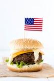 Scelga l'hamburger del manzo Fotografia Stock