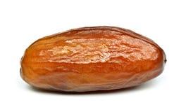 Scelga la frutta del dattero secco su fondo bianco Immagini Stock Libere da Diritti